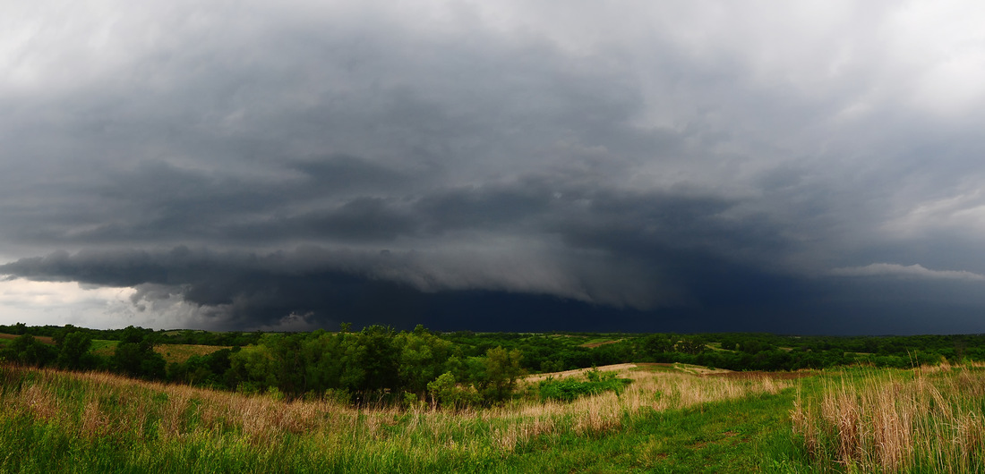 A view of the storm line from Seat Conservation Area